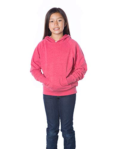 - Global Boys Pullover Hoodie Girls Sweatshirts Front Pockets Fleece Kids Jacket (Medium (10/12), Pomegranate)