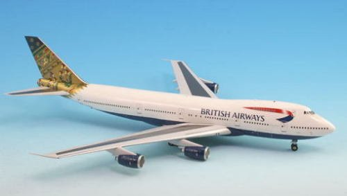 British Airways India BOEING 747-200 Airplane Miniature Model G-BDXO Diecast 1:200 Part# (British Airways Boeing 747)