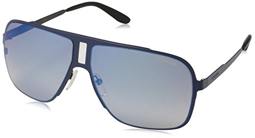 Carrera Mens CA121S Rectangular Sunglasses, Blue/Flash Blue Sky, 62 ()