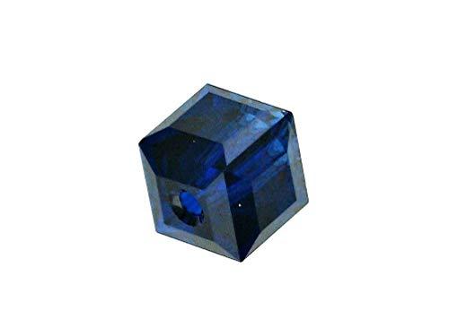 - Wholesale Genuine Swarovski 5601 4mm Dark Indigo Cube Beads, Choose Package Size (24)