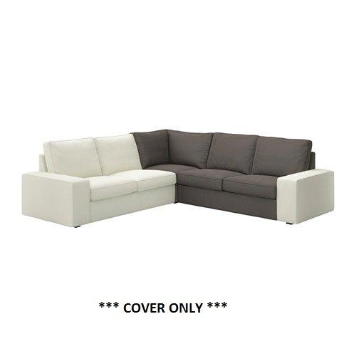 IKEA KIVIK ndash; カバーforコーナーセクションTullinge 正規品スーパーSALE×店内全品キャンペーン B01LYARNY4 カバーのみ 公式通販 gray-brown