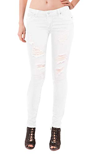 (Women's Butt Lift Stretch Denim Jeans P37354SK White 9 )
