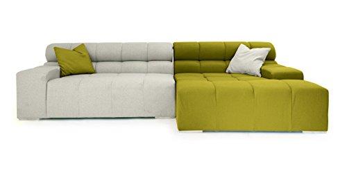 Kardiel Cubix Modern Modular Sofa Sectional Right, Deco Moss/Heather  Cashmere
