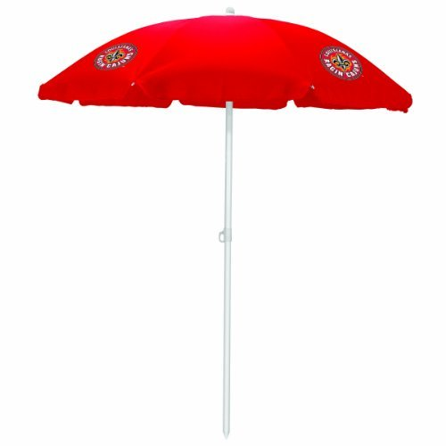 NCAA Louisiana Ragin Cajuns Portable Sunshade Umbrella, Red by Picnic Time by PICNIC TIME
