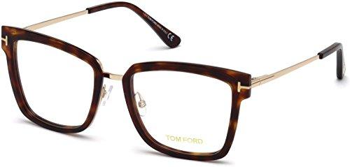 Tom Ford FT5507 Eyeglass Frames - Red Havana Frame, Red Havana Lenses, 53 mm Lens ()