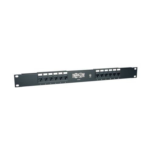 Tripp Lite 12-Port 1U Rackmount Cat5e 110 Patch Panel 568B, RJ45 Ethernet(N052-012) (Patch 568b)