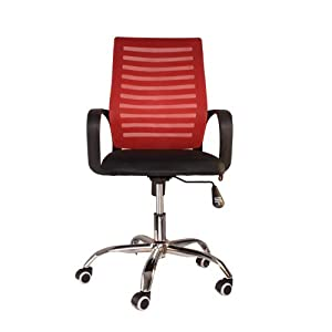 Starry Night Premium Mesh Chair for Task/Desk / Home Office Work - Red
