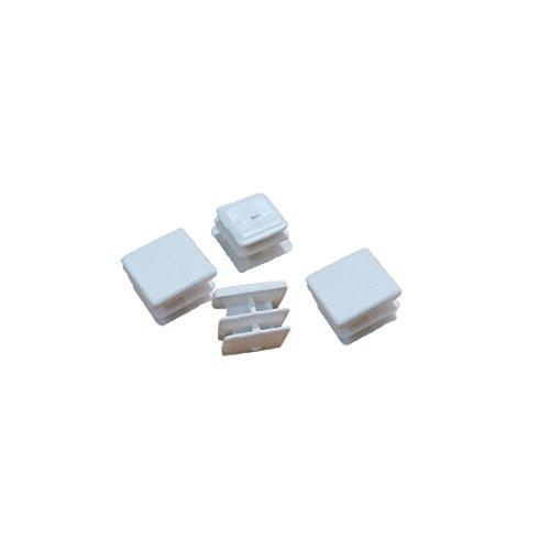 Flyshop 1616mm White Plastic Plug Square Tubing End Cap Tube Chair Glide 8 Pack by Flyshop