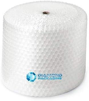 Diamond Packaging - Rollo de papel de burbujas (300 mm de ancho x 50 m de largo)