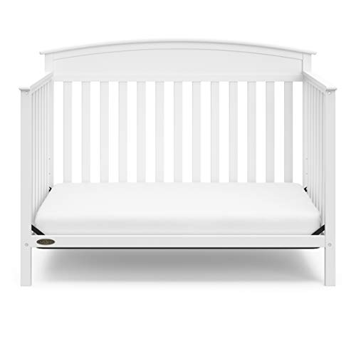 31m3zsQrHNL - Graco Benton 4-in-1 Convertible Crib, White, Solid Pine And Wood Product Construction, Converts To Toddler Bed Or Day Bed (Mattress Not Included)
