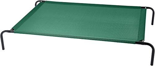 AmazonBasics Elevated Cooling Pet Bed, XL, Green