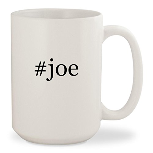 #joe - White Hashtag 15oz Ceramic Coffee Mug Cup