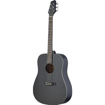 Stagg SA30D BK Left Handed Dreadnought Acoustic Guitar
