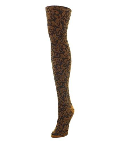 - MeMoi Fall Fashion Flirtatious Filigree Sweater Tights Cathay Spice MF6 104 Small/Medium