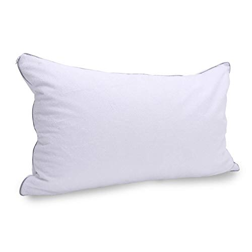 Kingnex Shredded Latex Pillow with Removable Premium Bamboo Terry Pillow Protector/Cover,Adjustable Loft,Queen