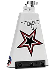 """Latin Percussion Tommy Lee Rock Star Signature Cowbell, White with Graphic Art, 8"""" (LP009TL)"""