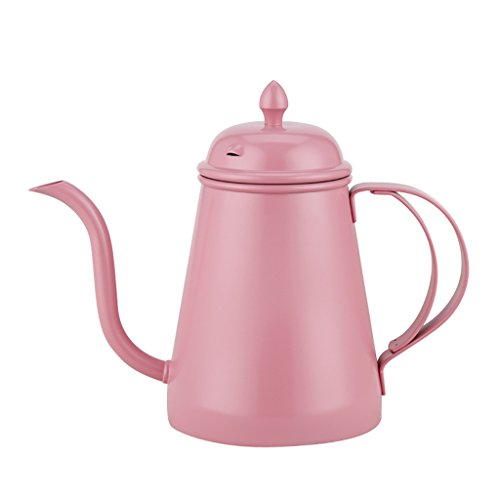 MonkeyJack Stainless Steel Teapot Cold Water Kettle Coffee Pitcher Restaurant 6 Colors - Pink, 500ml