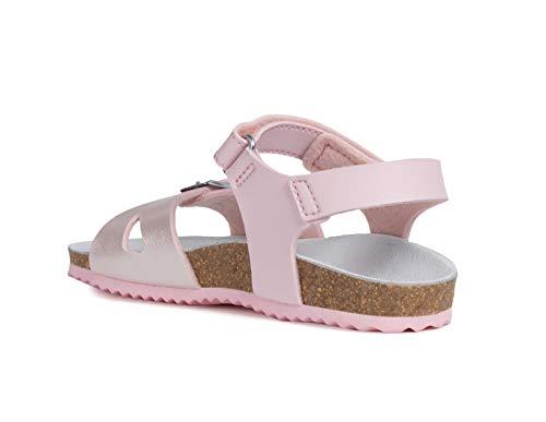 Geox Aloha Girls Sandals/Little Kids/Youth, Pink, 11