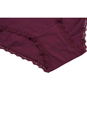 d2824c1b1c9 Anfilia Women s Cotton Briefs Medium Waist Panties Knicker Underwear Lace 4  pack