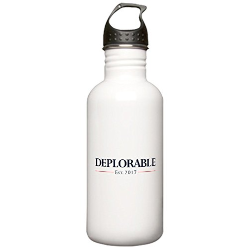 CafePress - Deplorable Est 2017 Stainless Water Bottle 1 - Stainless Steel Water Bottle, 1.0L Sports Bottle -