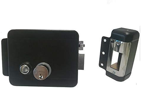 Serratura Elettrica con Pulsante da Porta Cancello DX SX Elettroserratura 12V df