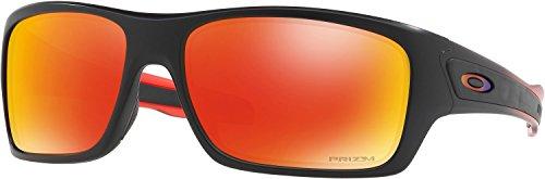Oakley Men's Turbine Non-Polarized Iridium Rectangular Sunglasses, Ruby Fade, 63 - Iridium Oo Red Polarized