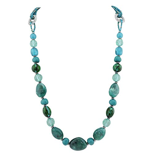(Bocar Long Beads Handmade Necklace Seed Beads Necklace Women Gift)