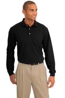 port-authority-signature-rapid-dry-long-sleeve-polo-sport-shirt-k455ls-x-large-jet-black
