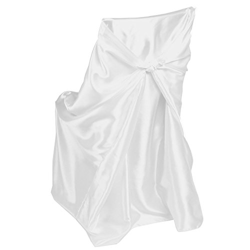 LinenTablecloth Satin Universal Chair Cover White Satin Chair Covers