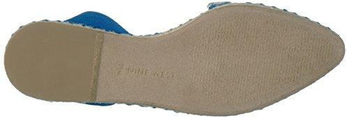 Nine Toe Flat Unah Blue Pointed West Women's Suede 4X4gUr