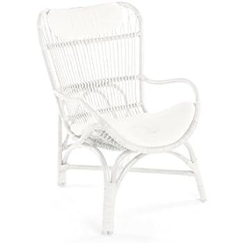 Fantastic Amazon Com Kouboo Rattan Loop Lounge Chair With Seat And Customarchery Wood Chair Design Ideas Customarcherynet