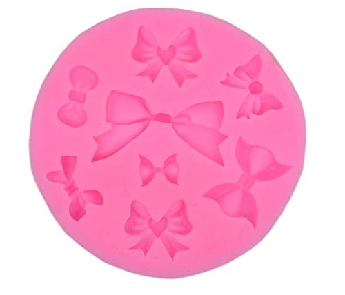 8 Cavities Assorted Bows Silicone Mold Fondant Sugar Mini Bow Craft Molds DIY Cake Decorating -