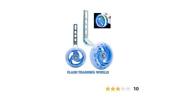 Universal Flashing Bicycle Stabilisers Kids Bike Training Wheels 12-20 Inch