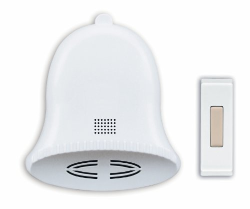 Heath/Zenith SL-6504 Wireless Battery-Operated Door Chime Kit with Three Holiday Tunes, White by Heath/Zenith by Heath/Zenith