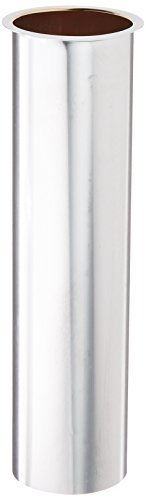 Eastman 35082 Durable 22-Gauge Brass Flanged Sink Tailpiece for Drain Tube, 1-1/2-inch x 6-inch Direct Connection, Chrome-Plated