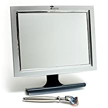 Deluxe LED Fogless Shower Mirror with Squeegee by ToiletTree Products. Guaranteed Not to Fog, Designed Not to Fall. 20% Larger Than Our #1 Selling Original Mirror.