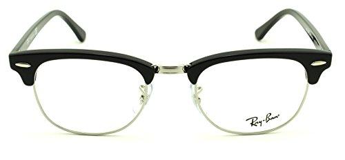 Ray-Ban RX5154 2000 Clubmaster Unisex Eyeglasses Shiny Black Frame ()