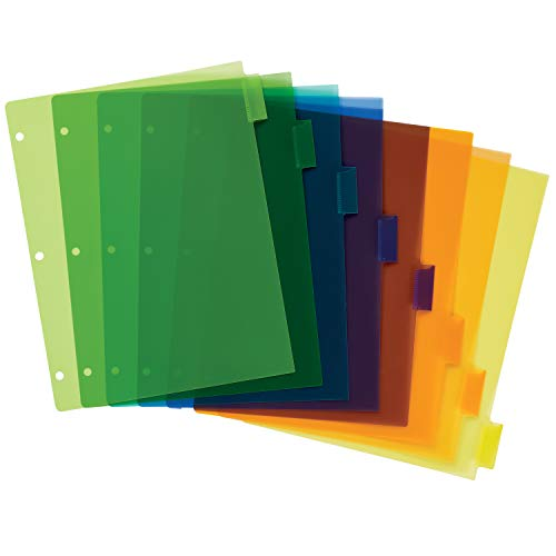 Avery 8-Tab Plastic Binder Dividers, Insertable Multicolor