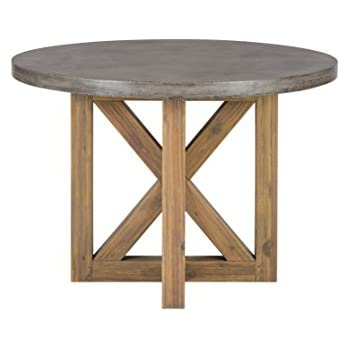Amazoncom Home Styles Concrete Chic Round Dining Table Tables
