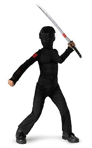 [8eighteen GI Joe Snake Eyes Ninja Classic Child Halloween Costume] (Gi Joe Cosplay Costumes)