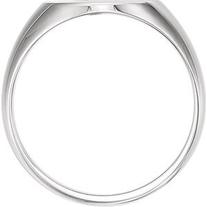 Men's Diamond Signet Ring, Rhodium-Plated 14k White Gold (.02 Ct, G-H Color, I1 Clarity) Size 11.75 by The Men's Jewelry Store (Image #3)