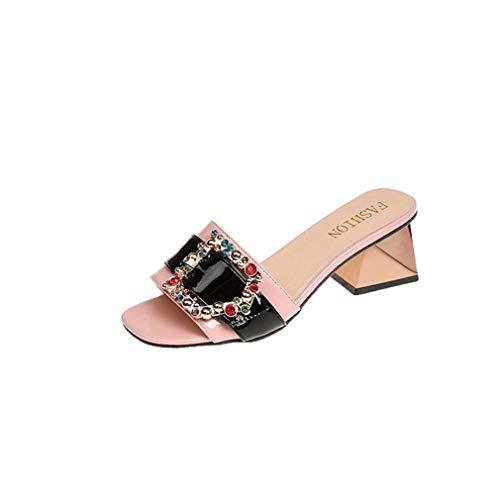 des des des Rugueuses YUCH Femmes Chaussons Et Portent Black Paresseuses Chaussures Chaussures Les HqwwXfnE