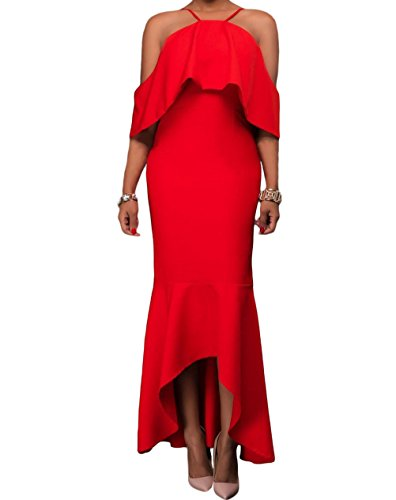 yeeatz-red-ruffled-sleeves-high-low-hem-party-maxi-dress
