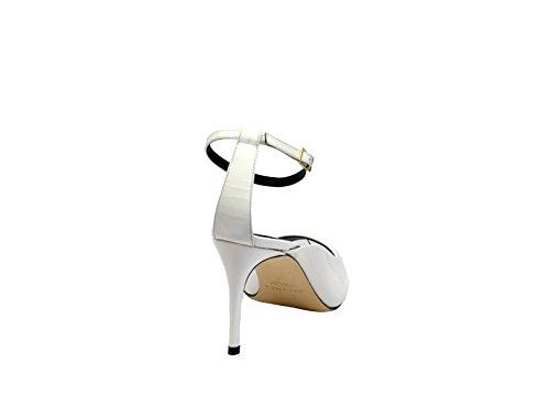 Greymer Ladies 731080benny Scarpe Con Tacco In Vernice Bianca