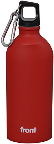 Front Stainless Steel Sipper Bottle, 500ml, Red/Black