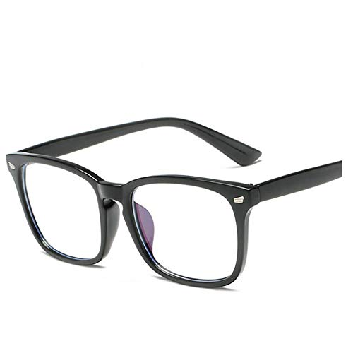 HOUER Blue Light Filter Computer Glasses for Blocking UV Headaches, Anti-Blue Light, Anti-Glare Anti-Reflection for Men and Women Black