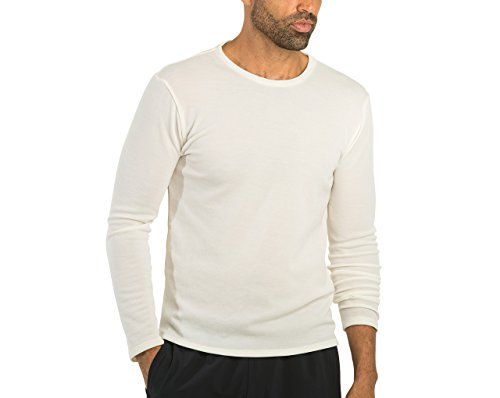 OLIVERS Apparel, Mens, Merino Wool Tech Mesh Terminal Long Sleeve T-Shirt (Ivory, ()