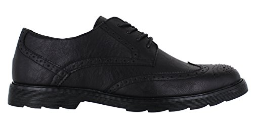 e6e2f779d9429 ... Brogues pu Lace Suede Up Shoes Faux Smart Classics Formal Leather Mens  Black Alan Casual aqRgn6vp ...