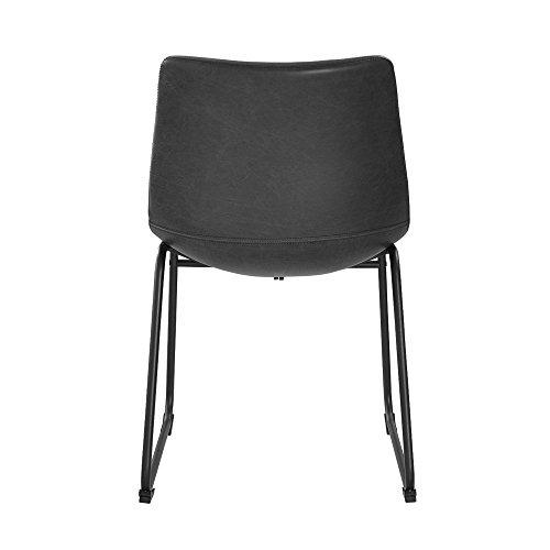 WE Furniture Black Faux Leather Dining Chairs, Set of 2 by WE Furniture (Image #2)