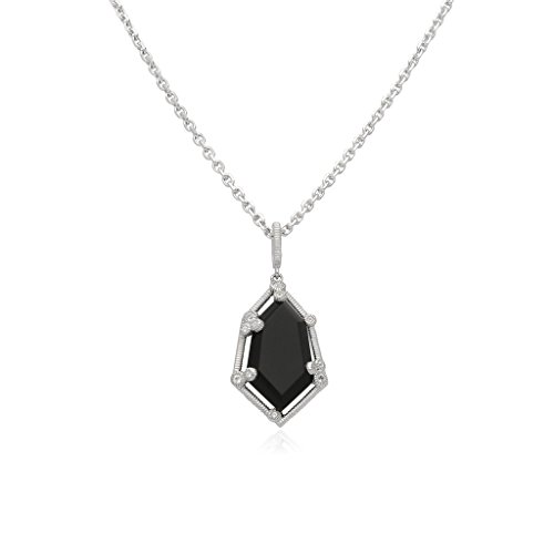 JUDITH RIPKA Martinique Black Onyx Hexagon Pendant With White Topaz Accents (Gemstone Ripka Necklace Judith)